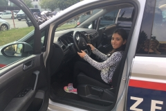 Ümmühan Polizeiauto